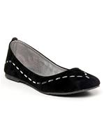 Butterfly Chic Black Ballerinas